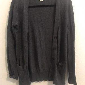 Charcoal Grey textured cardigan